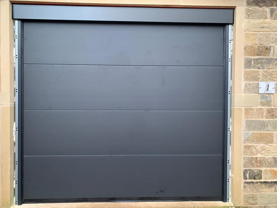 Contemporary garage door for a new build project