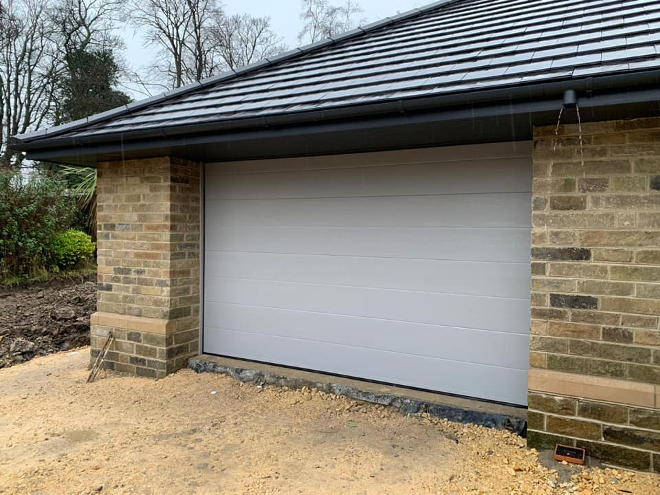 Cream bespoke colour choice on new build garage